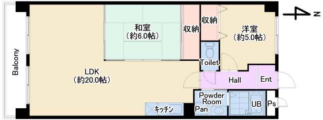 ルミエール102号室 仲介用図面
