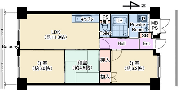 パティオ北加賀屋2703号室 仲介図面