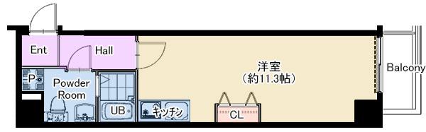 扇町第二マンション 202号室 仲介図面