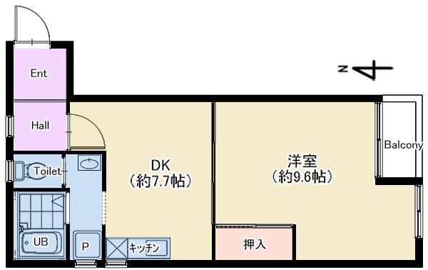 ラレジダンスリル303号室 仲介図面new
