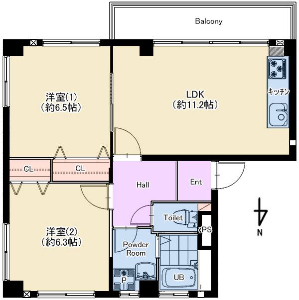 千島ハウス 105号室 仲介図面