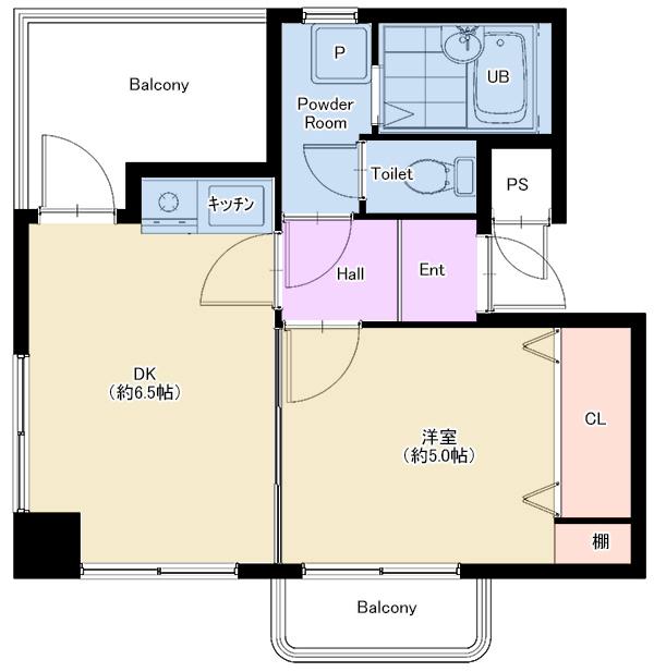 アパートメント601号室 仲介図面