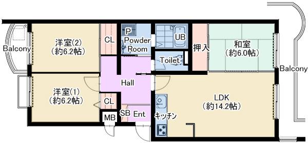 グリーンビュー少路 202号室 仲介図面