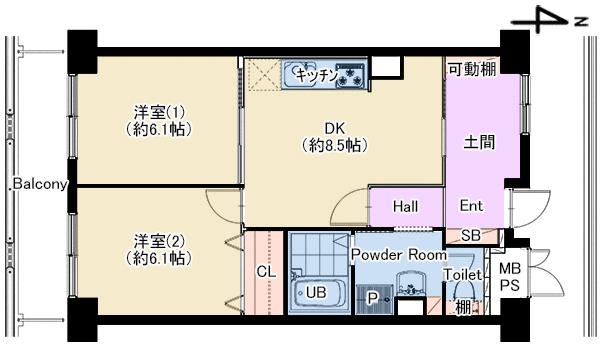 パティオ北加賀屋 1404号室 仲介図面
