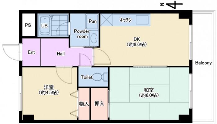 ヴェルデ・カサ203号室plan